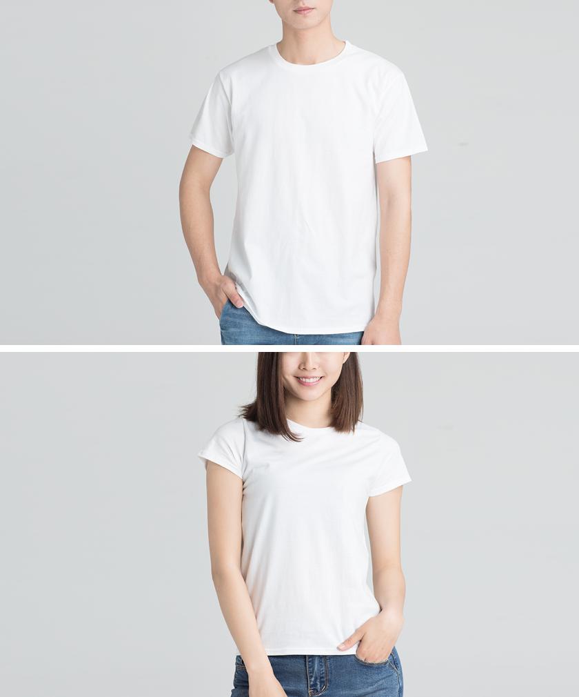 定制環紡棉經典款白色T恤