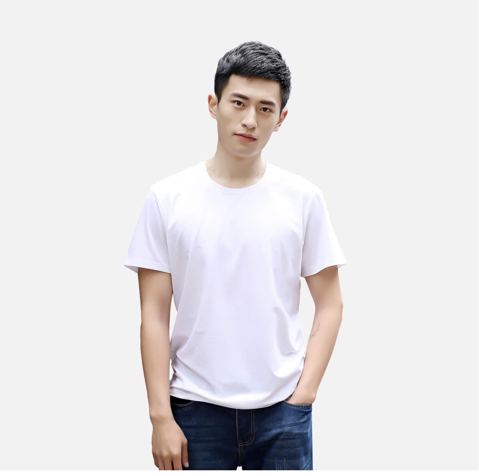 定制奧戴爾彈力款白色T恤