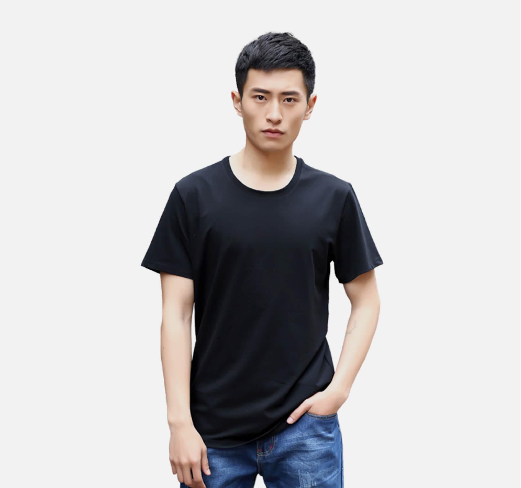 定制奧戴爾彈力款黑色T恤