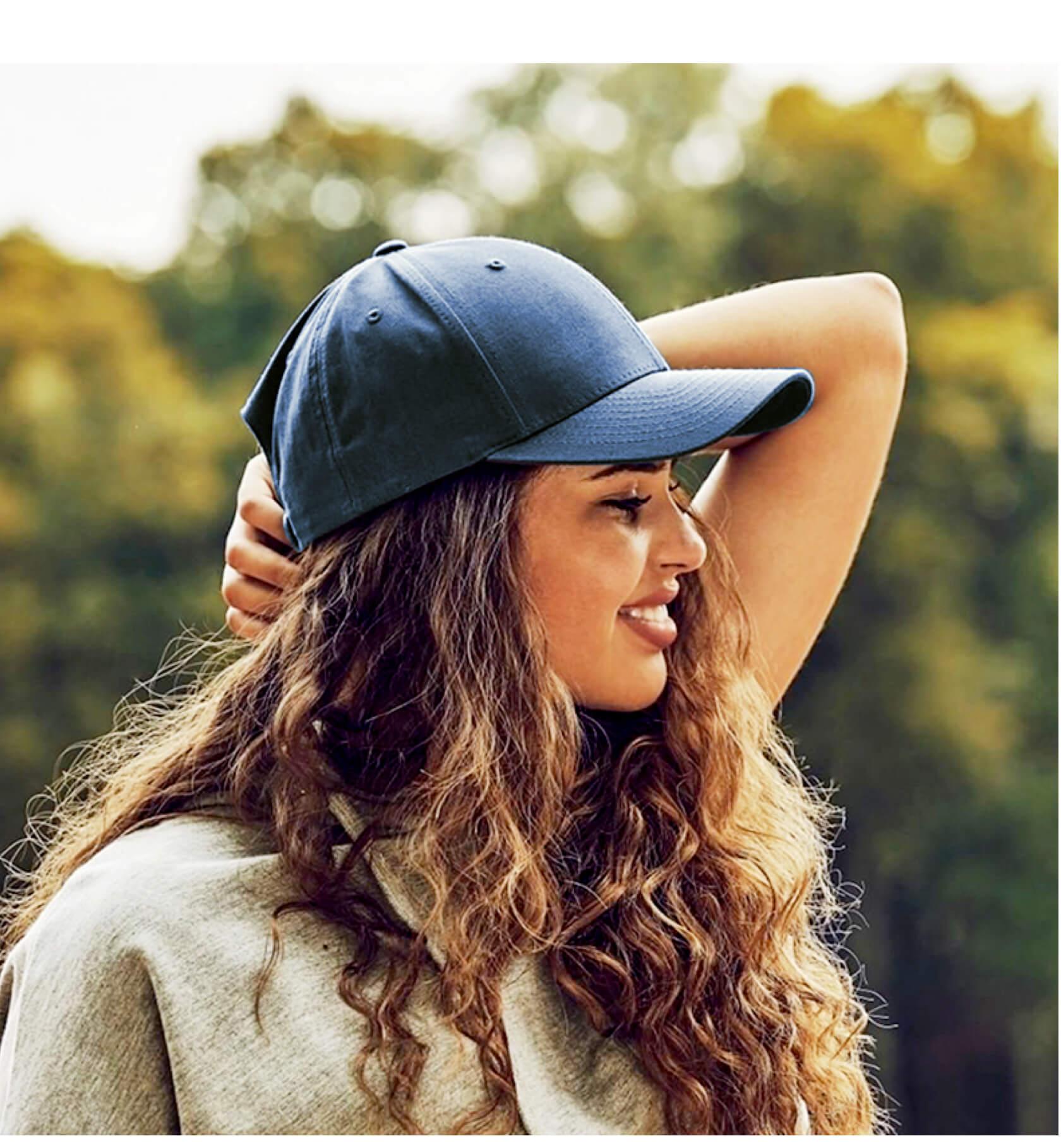 定制FLEXFIT经典全棉弯檐女款棒球帽