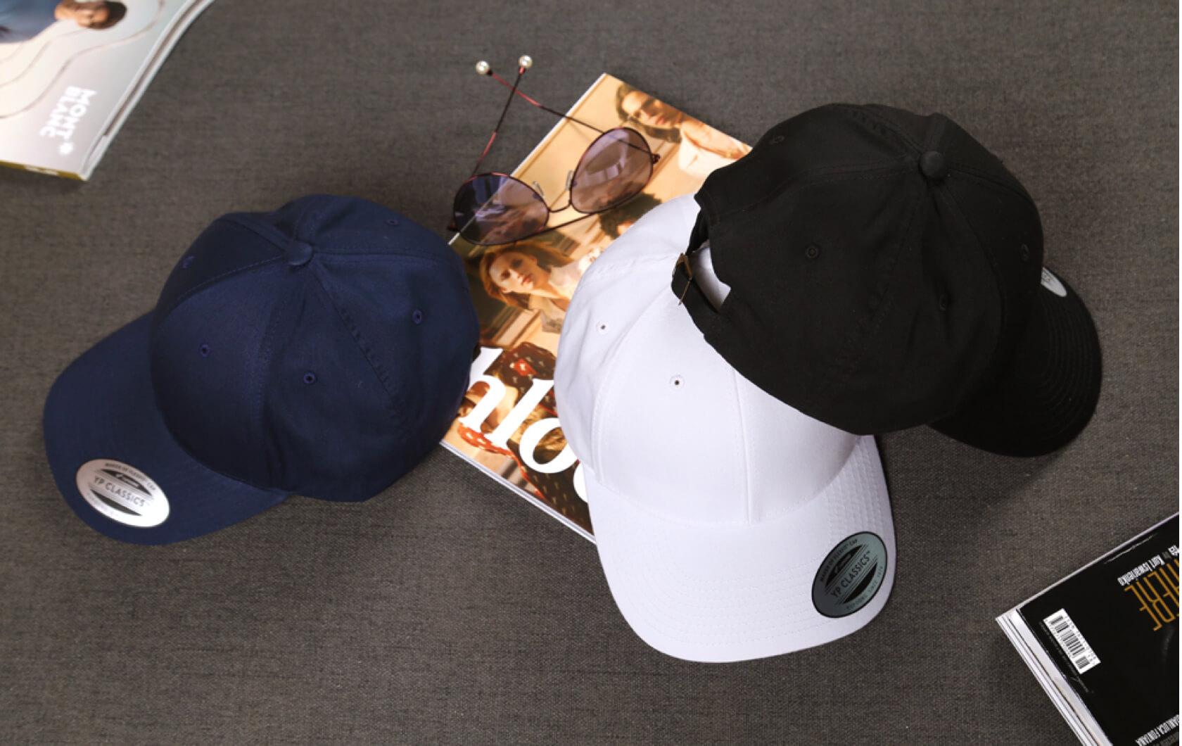 工厂定制FLEXFIT经典全棉弯檐棒球帽