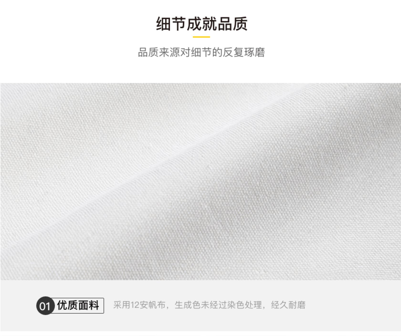 定制拉鏈帆布包細節1