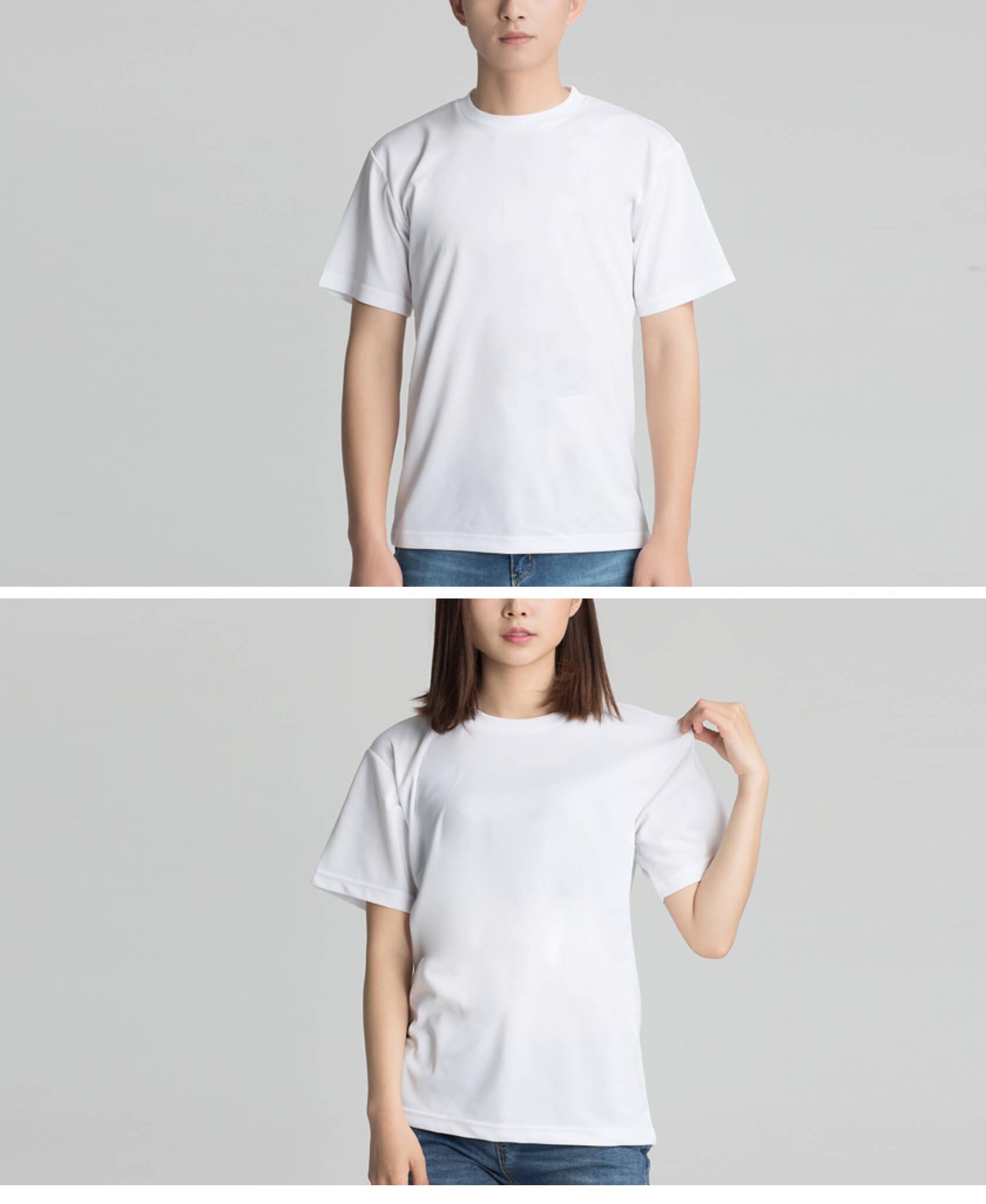定制速干运动款白色T恤