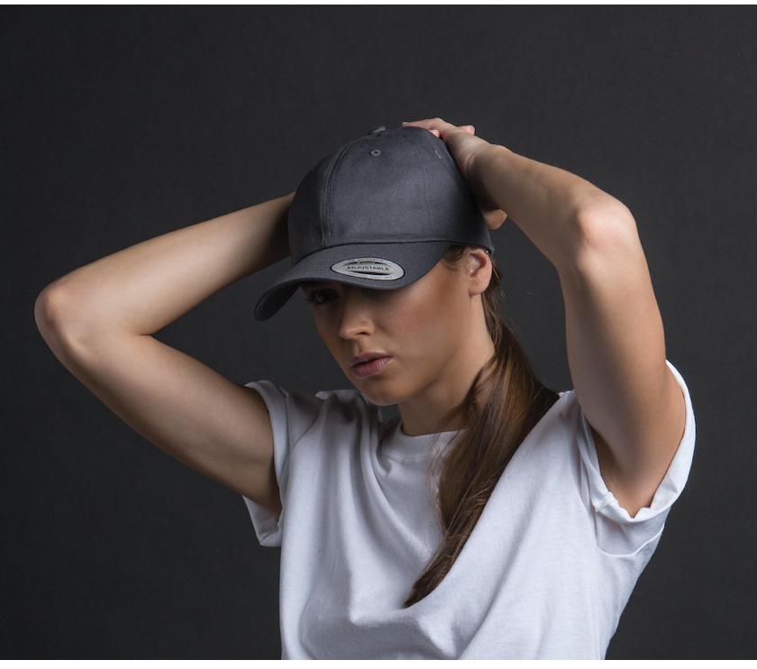 定制FLEXFIT斜纹短檐女款棒球帽