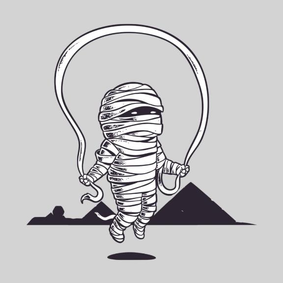 《木乃伊的休闲时间》创意T恤设计