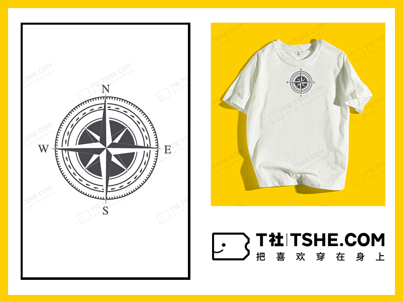 指南针T恤设计素材