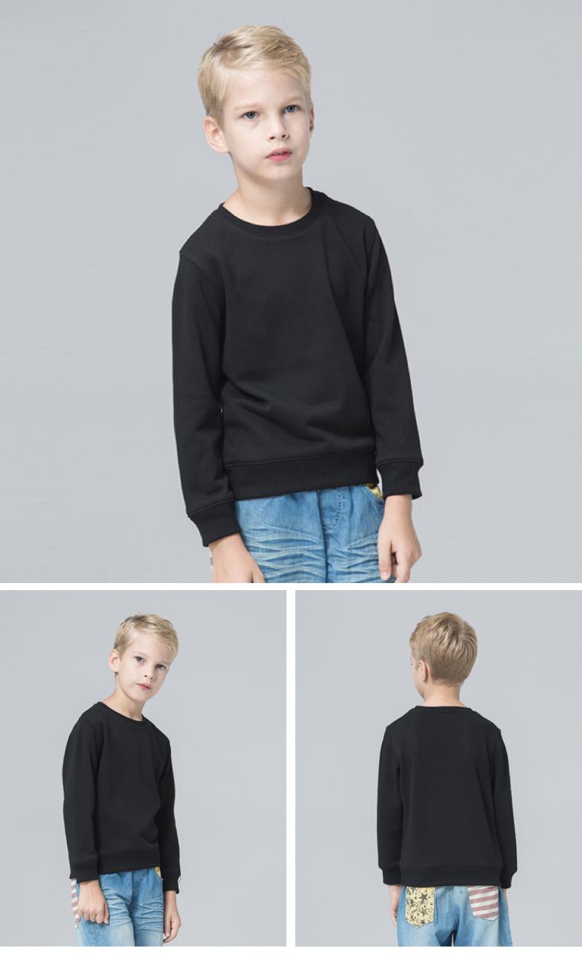 定制高品质TY凝温轻薄圆领套头儿童款卫衣