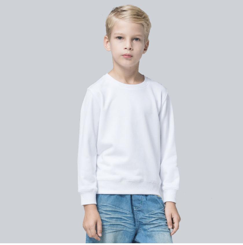 定制高品质TY凝温轻薄圆领儿童款空白卫衣