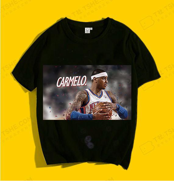 男生定制T恤图案 篮球明星T恤图案