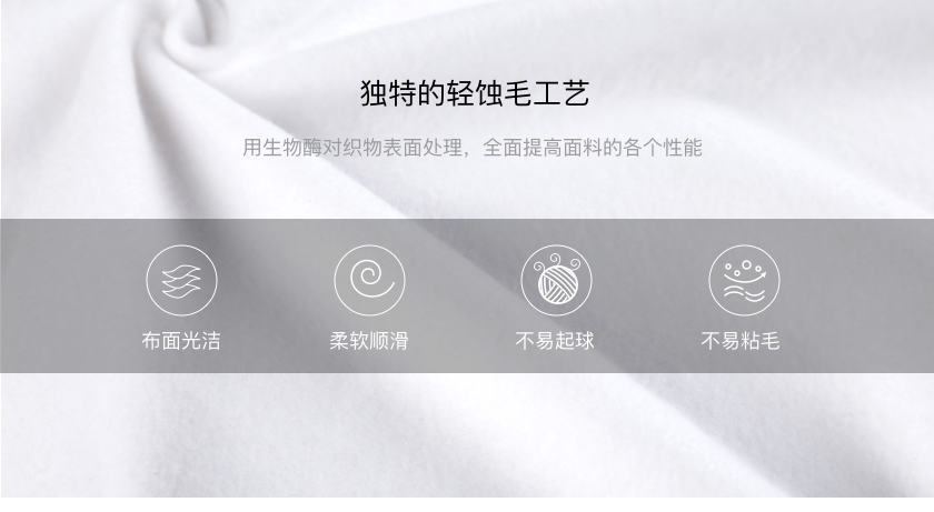 T社卫衣定制的轻蚀毛工艺和复合抓绒面料是什么?