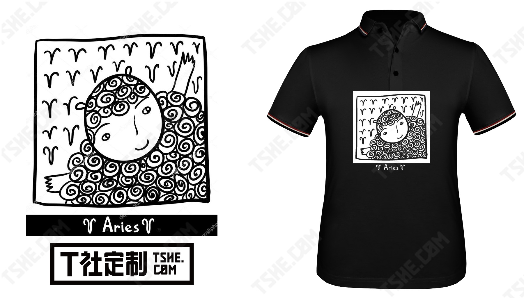 純黑色polo衫作為企業文化衫該怎么印制印花?