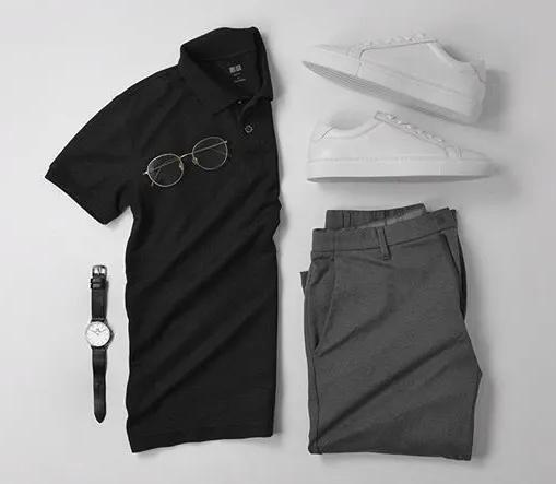 黑色polo衫 polo衫搭配什么裤子 polo衫定制